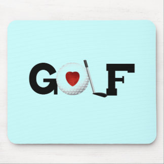 Red Heart Golf T-shirts and Gifts Mouse Pad