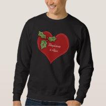 Red Heart & Green Holly Christmas Shirt