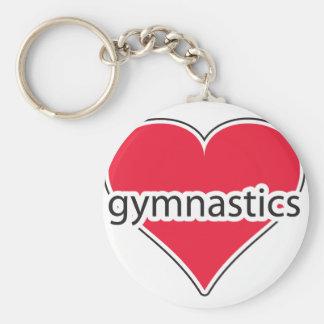 Red Heart Gymnastics Keychain