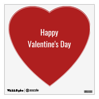 Red Heart Happy Valentine's Day Wall Decal
