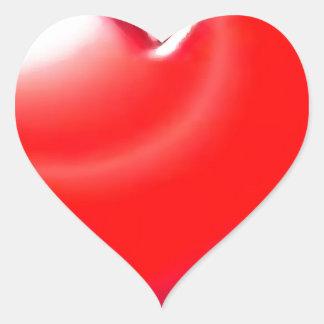 Red Heart Heart Sticker