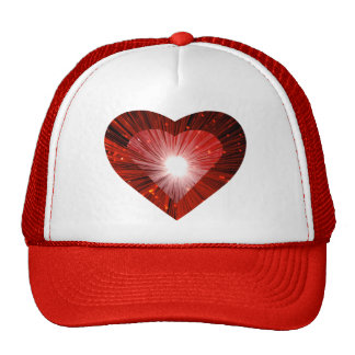 Red Heart 'heart' trucker hat red