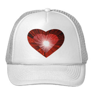 Red Heart 'heart' trucker hat white