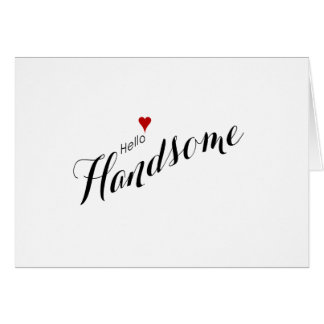 Red Heart Hello Handsome Wedding Stationery Note Card