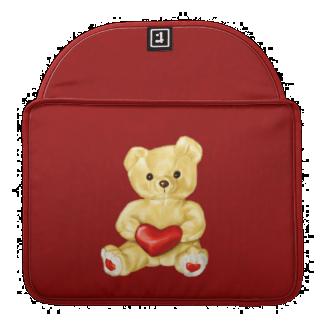 Red Heart Hypnotizing Cute Teddy Bear Sleeve For MacBooks