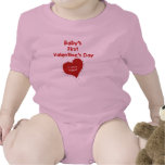 Red Heart I Love Nana First Valentines Day Shirts