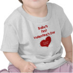 Red Heart I Love Nana First Valentines Day T-shirt