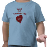 Red Heart I Love Nana First Valentines Day Tee Shirt