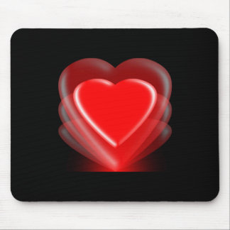 Red Heart-Illumination Mousepad