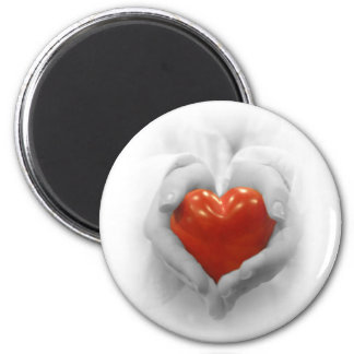 Red Heart in Hands, I Love You Shape Magnet