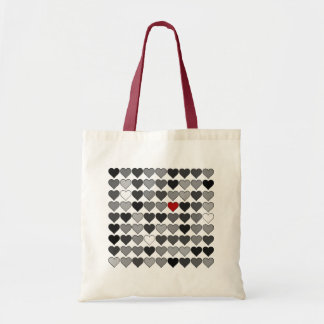 red heart in the crowd tote bag