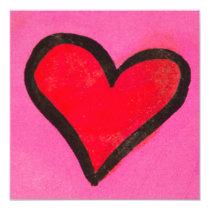 Red Heart Invitation