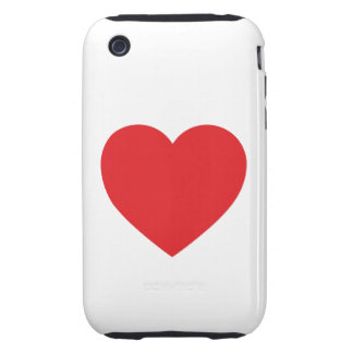 Red Heart iPhone 3G/3GS Case-Mate Tough Tough iPhone 3 Covers