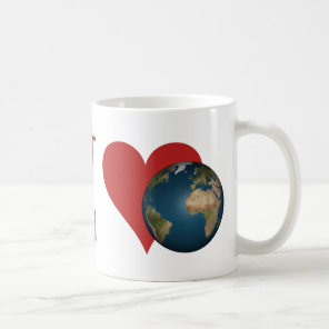 Red Heart is anagram for Green Earth Coffee Mug