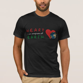 Red Heart is anagram for Green Earth dark tshirt