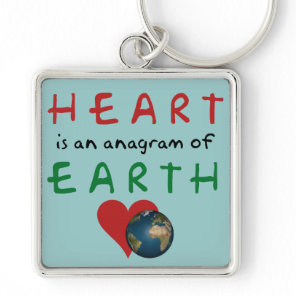Red Heart is anagram for Green Earth Keychain
