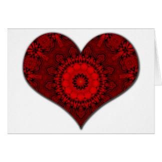 Red Heart Kaleidoscope Card