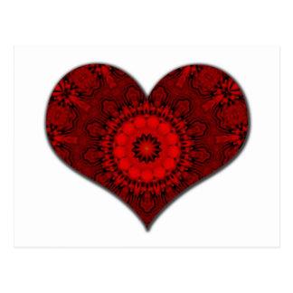 Red Heart Kaleidoscope Postcard