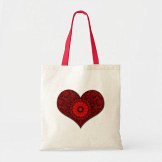 Red Heart Kaleidoscope Tote Bag