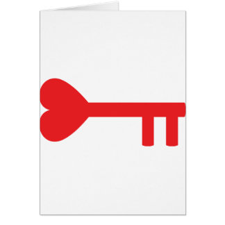 red heart key card