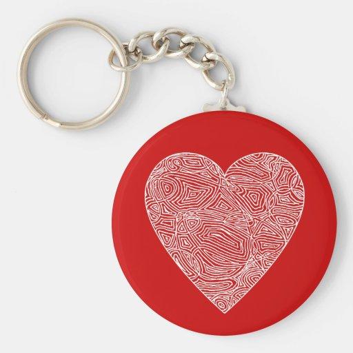 Red Heart Keychain