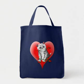 Red Heart Kitty and Rose Bag