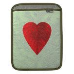 Red Heart Leaf iPad Sleeve