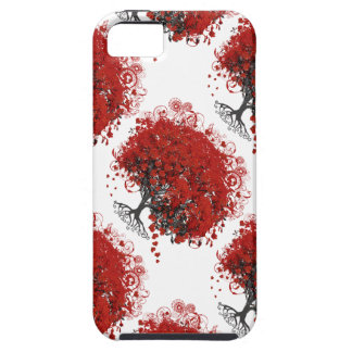 Red Heart Leaf Tree iPhone SE/5/5s Case