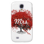 Red Heart Leaf Tree Samsung Galaxy S4 Cover