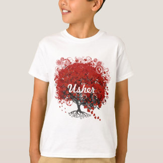 Red Heart Leaf Tree T-Shirt