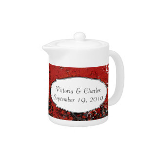 Red Heart Leaf Tree Teapot