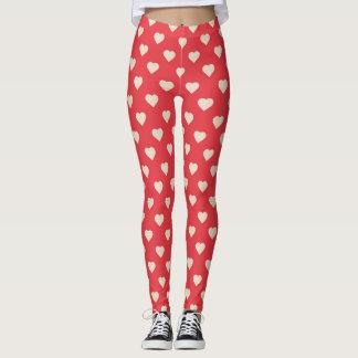 Red Heart leggings/ Valentines day leggings