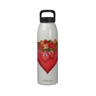 Red Heart Liberty Water Bottle