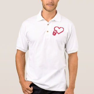 Red heart lock polos