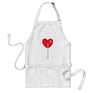 red heart lollipop adult apron