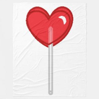 red heart lollipop blanket