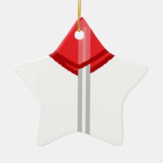 red heart lollipop ceramic ornament