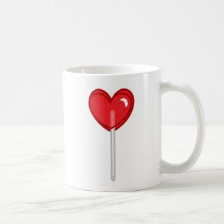 red heart lollipop coffee mug