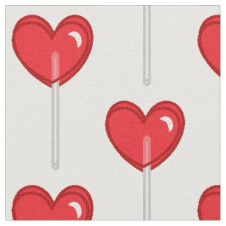 red heart lollipop fabric