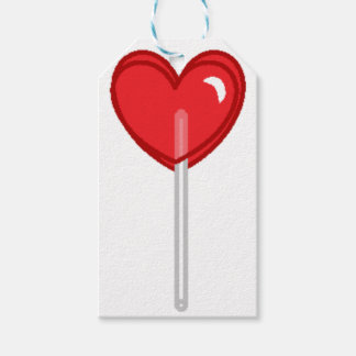 red heart lollipop gift tags
