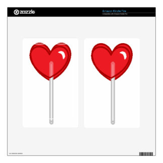 red heart lollipop kindle fire decal