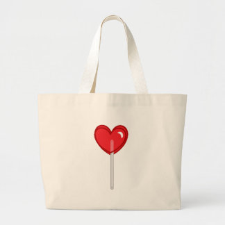 red heart lollipop large tote bag