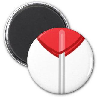 red heart lollipop magnet