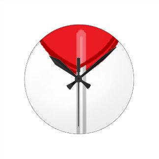 red heart lollipop round clock