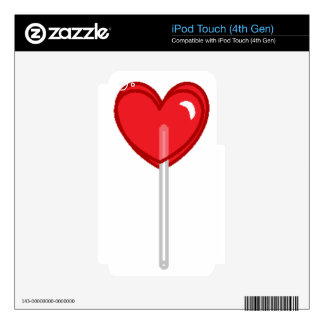 red heart lollipop skin for iPod touch 4G