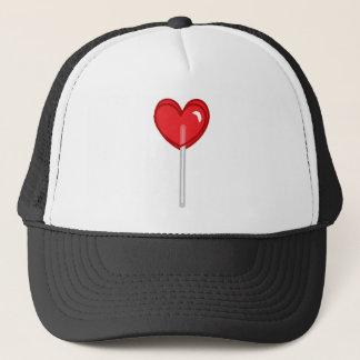 red heart lollipop trucker hat