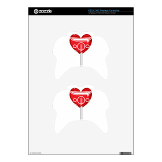 red heart lollipop xbox 360 controller decal