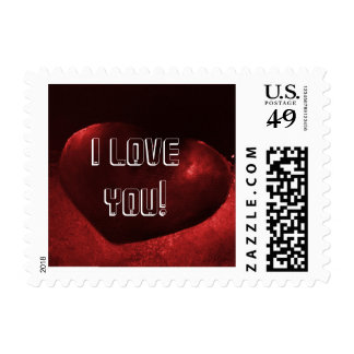 Red Heart Love 2 Postage