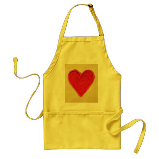 Red Heart Love Adult Apron