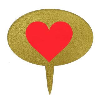Red Heart - Love Card Suit Anatomy Cake Picks